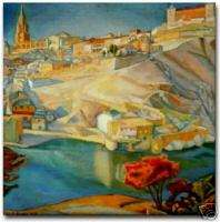 Diego Rivera Mexican Art Ceramic Tile Vista de Toledo