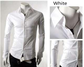 New Mens Casual Luxury Stylish Dress Slim Shirts ST50