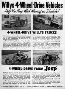 1951 Willys Pickup Truck Station Wagon & Jeep CJ 3 Original Ad