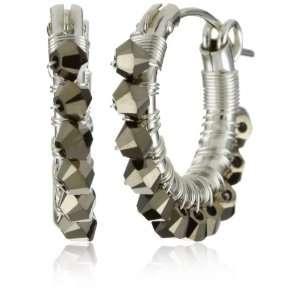 Viv&Ingrid Wrap Silver .75 Light Metallic Gold Swarovski Hoop