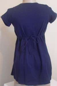 New Avec Moi Maternity Womens Clothes Navy Blue Shirt Top Blouse S M L