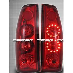Chevy Silverado Led Tail Lights Red LED Altezza Taillights 1988