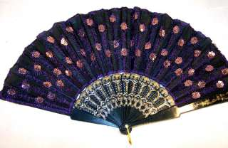 SILK EMBROIDERED HAND FANS oriental decor fan ladies fashion clothing