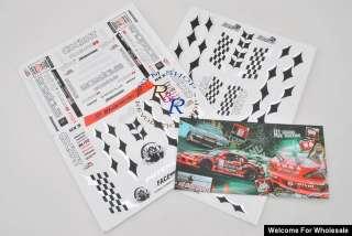 10 RC Car D1 Grand Prix Machine Self Adhesive Decal
