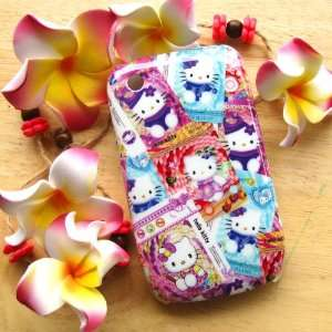 com Hello Kitty different style stamp Hard Case Cover for Blackberry