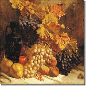 Hughes Grapes Fruit Kitchen Ceramic Tile Mural Art