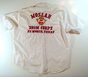 Mid Century Masonic Moslah Texas Drum Corp White Shirt