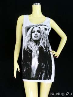 BEYONCE Tank Top, Dance DIVA Pop ICON R&B White SINGLET, T shirt MINI