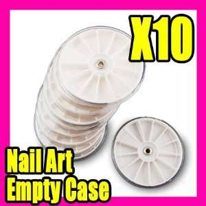 10 Pcs Empty Glitter Rhinestone Nail Art Box Case 010 Beauty