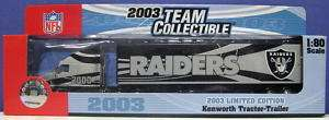 Fleer NFL Oakland Raiders 2003 Die Cast Truck 1/80 NIB
