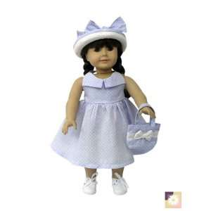 American Girl Doll Clothes Halter Style Dress w/ Hat Toys