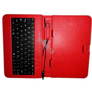white/Red/Pink Leather Case of usb Keyboard for 7 inch MID Tablet PC
