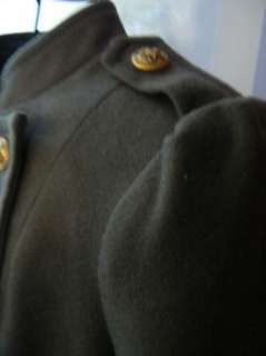 BEBE WOOL 166725 coat jacket MILITARY Army green