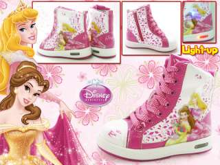 Disney Princess Kids Girls School Boots Boot Light up Shoes PS8715