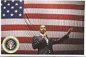 Set/12 Diff President BARACK OBAMA Cards / Postcards