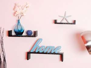 Black U Shape Display Shelf Set 3 Wholesale Wall Shelving New