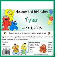 Baby Sesame Street Candy Wrappers/Birthday Party Favors