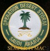 OPERATION DESERT STORM PATCH US MARINES NAVY ARMY USAF