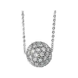 14K White Gold Necklace Diamond Necklace Jewelry