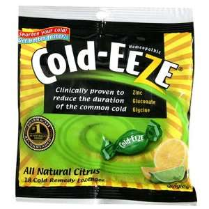 Cold Eeze Cold Remedy Lozenges, All Natural Citrus, 18