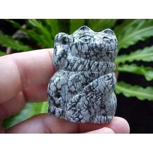Gemqz Snowflake Obsidian Lucky Cat Right Paw