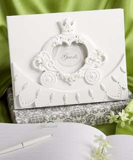 CINDERELLA, FAIRY TALE WEDDING DAY SWEET 16 GUEST BOOK AND PENSET