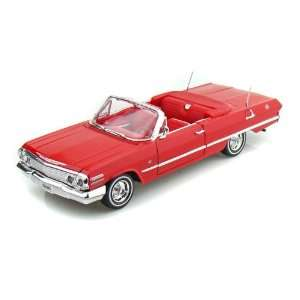 1963 Chevy Impala Convertible 1/26   Red: Toys & Games