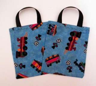 New Train Party Favor Treat Candy Bags Fabric