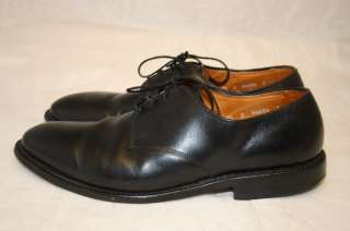 ALLEN EDMONDS USA MODEL HARRISON MENS 9.5 E RICH BLACK LEATHER DRESS