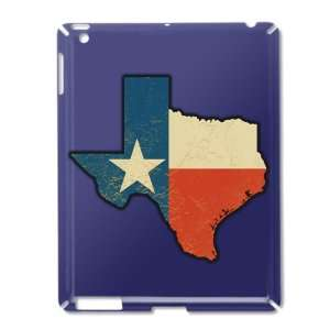 iPad 2 Case Royal Blue of Texas Flag Texas Shaped