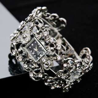 Goth/Punk/Emo Dress Style Crystal Bracelet Lady Watch