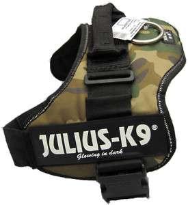 NEW JULIUS K9 ORIGINAL HARNESS CAMOUFLAGE/CAMOU DOG VEST BELT PICK