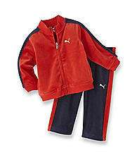 PUMA NWT Boy Track Suit Jacket Pant Top Red Navy VELOUR 2 2T 3 3T 4 4T