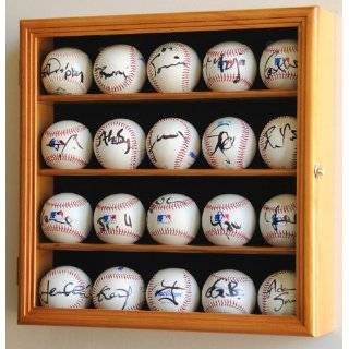 14 Baseball Display Case Cabinet Holder Wall Rack Home Plate Shaped w