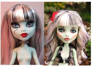 Frankie Monster High Doll Custom Repaint FaceUp OOAK Spiral Perm