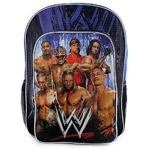 Official WWE Wrestling Superstars Large Blue Backpack