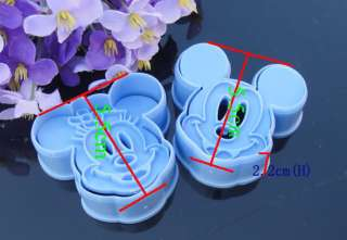 Minnie&Mickey Pooh Stich Fondant Cookie Mold Cutter Tools Sugarcraft
