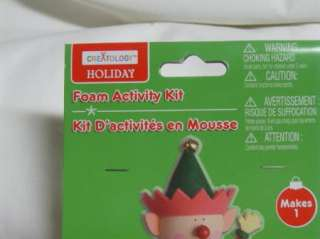 Christmas Holiday Foam Activity Kit Elf Kid Craft NIP