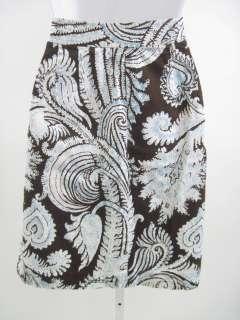 SANDRA Brown Floral Print A Line Skirt Sz 6P