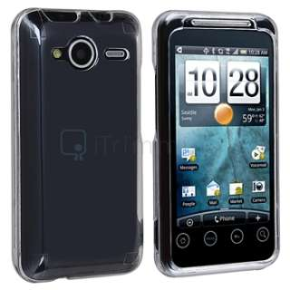 Clear Hard Case+Privacy LCD Protector+AC+Car Charger For HTC EVO Shift