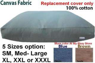 Dogbed4less Durable CANVAS Fabric Duvet Pet Dog Bed Cover 5 Sizes