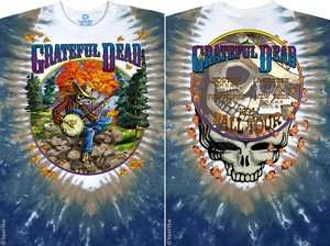 NEW Grateful Dead Banjo Tie Dye Premium Rock Band Shirt M L XL 2X