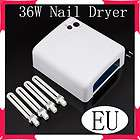 GEL CURING LAMP NAIL Polish Art Salon DRYER Machine+4x 9W BULB EU 220V