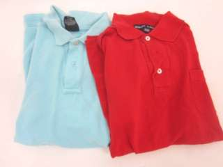 LOT 2 RALPH LAUREN POLO Boys Red Blue Polo Shirts Sz S