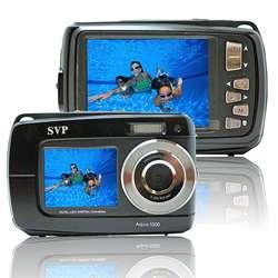 5500 Black (with Micro 4GB) 18MP Dual Screen Waterproof Digital Camera