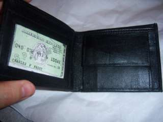 Black Coin Pocket Billfold Genuine Leather Wallet