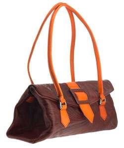 Hand Tooled Leather Envelope Handbag (Paraguay)
