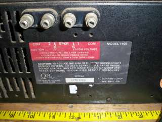 QSC AUDIO 1400 STEREO POWER AMPLIFIER AMP