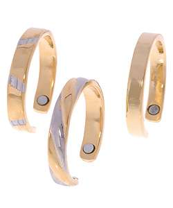 24k Yellow Gold plated Two tone Magnetic Toe Ring
