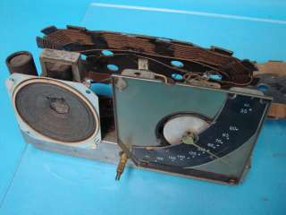 Black Dial Antique Tube Radio Chassis Set Repair Parts Lot Wiper Dial